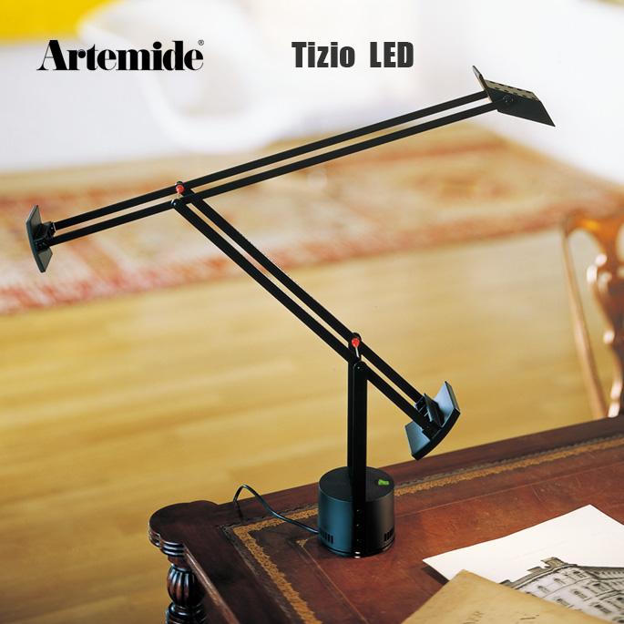 ティチオ Tizio LED 品質検査済 アルテミデ Artemide デスクライト スタンドライト モダン ヴィンテージ シンプル インダストリアル イタリア オフィス スタンド インテリア イタリア製 おしゃれ 送料込 ランプ 照明 リチャード サパー ライト ブラック
