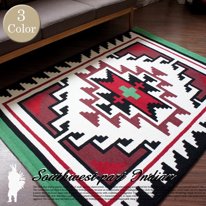 アートワークスタジオ ARTWORKSTUDIO アクセントラグ 手織り絨毯 ヒルズ(Hills) TR-4241 カラー(ブルー/グリーン/レッド) 送料無料