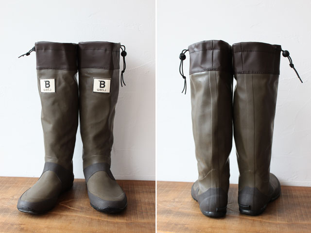 Rain boots Japan Wild Bird Society of birding-length shoes (Brown) | galoshes | boots | live outdoors | outdoor festivals | outdoors | camp | farming | field, got rice | fishing | boots |