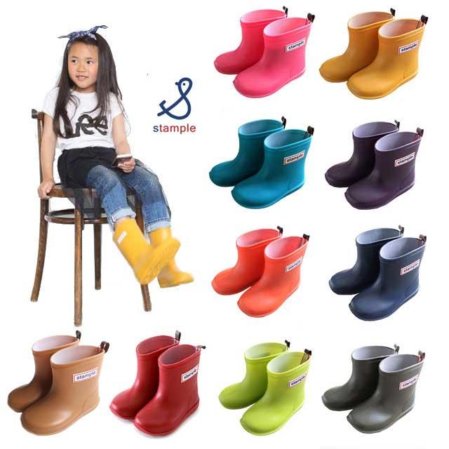 stample スタンプル 長靴 レインブーツ レインシューズ 雪 キッズ いよいよ人気ブランド ベビー 男の子 女の子 入学 通園 通学 子供 子ども 20 送料無料 13 アウトレット ジュニア 19 17 18 13~20cm 人気 14 15 子供靴 日本製 16 全12色