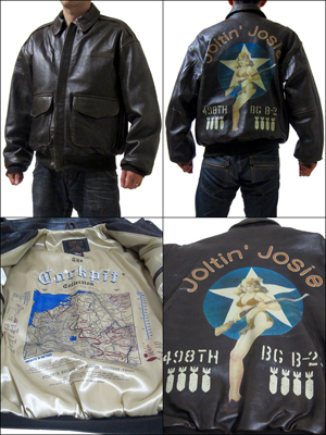 조종석 USA 조종석 USA COCKPIT USA Joltin Josie A-2 Good Luck Pin-Up Jacket A-2 아랍권 플라이트 쟈 켓