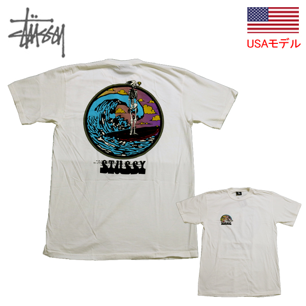 35452b50 ステューシー T-shirt STUSSY T-shirt short sleeves T-shirt DEAD SURF PIG ...