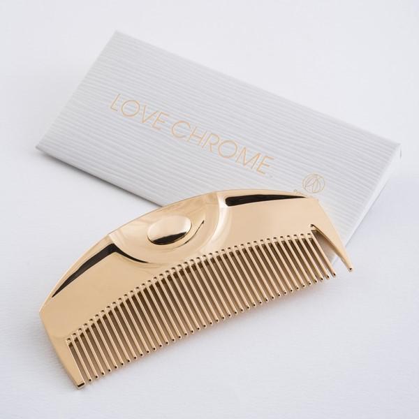 数量限定アウトレット最安価格 櫛 美髪 静電気 コーム ツキ ラブクロム ついに再販開始 K24GP ゴールド
