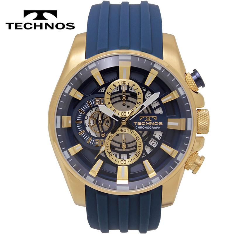 TECHNOS テクノス クオーツ 10気圧防水 クロノグラフ 激安挑戦中 T8A93GN 贈答 メンズ 腕時計