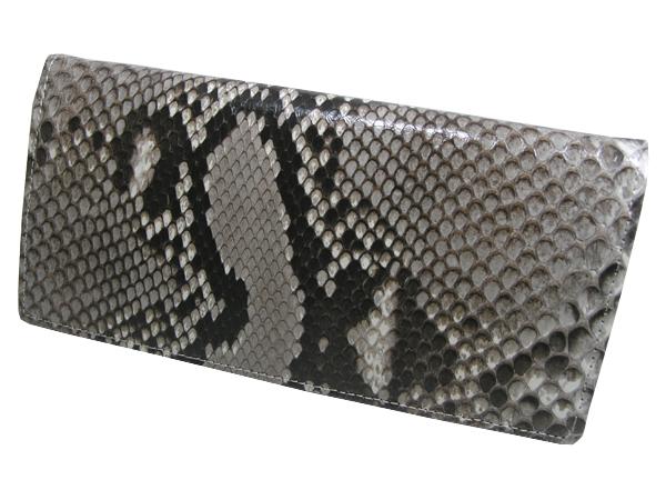 【送料無料】錦ヘビ 無双 長財布 さいふ サイフ メンズ 錦蛇革使用 日本製 押し柄