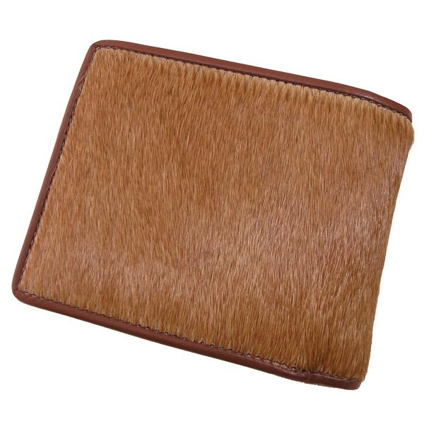 【送料無料】馬毛 BOX 小銭入れ付 二つ折り財布 さいふ サイフ メンズ 馬毛使用 日本製