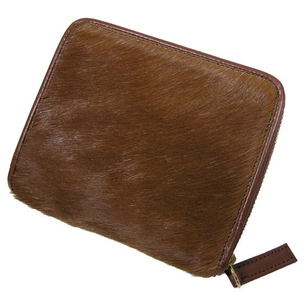 【送料無料】馬毛 ラウンド 二つ折り財布 さいふ サイフ メンズ 馬毛使用 日本製
