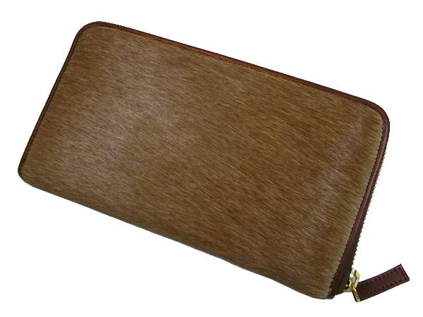 【送料無料】馬毛 ラウンド 長財布 さいふ サイフ メンズ 馬毛使用 日本製