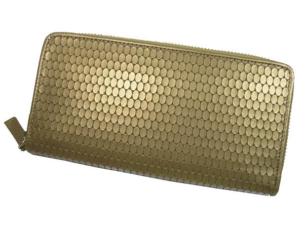 【送料無料】長財布 MEGA屯型押しラウンド財布 103154 財布 サイフ 牛革使用 日本製