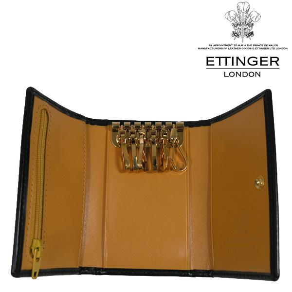送料無料 エッティンガー/ETTINGER 6連 キーケース メンズ Bridle Hide BH2095JR-BLACK