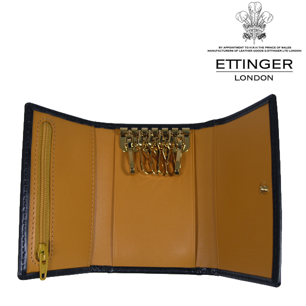 送料無料 エッティンガー/ETTINGER 6連 キーケース メンズ Bridle Hide BH2095JR-NAVY