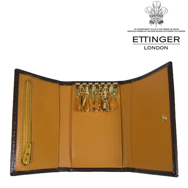 送料無料 エッティンガー/ETTINGER 6連 キーケース メンズ Bridle Hide BH2095JR-NUT