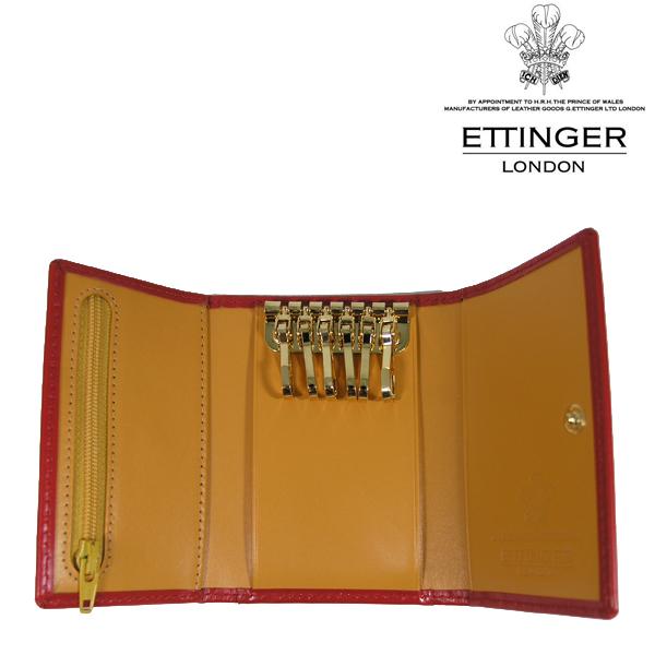 送料無料 エッティンガー/ETTINGER 6連 キーケース メンズ Bridle Hide BH2095JR-RED