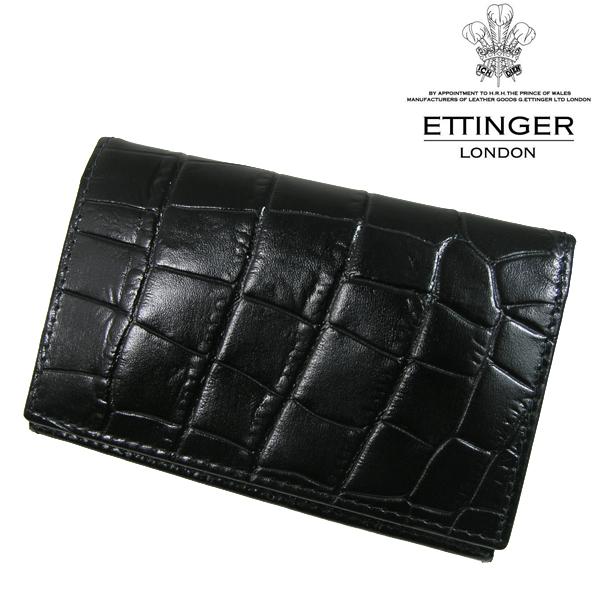 送料無料 エッティンガー/ETTINGER カードケース メンズ 名刺入れ CC143J-EBONY