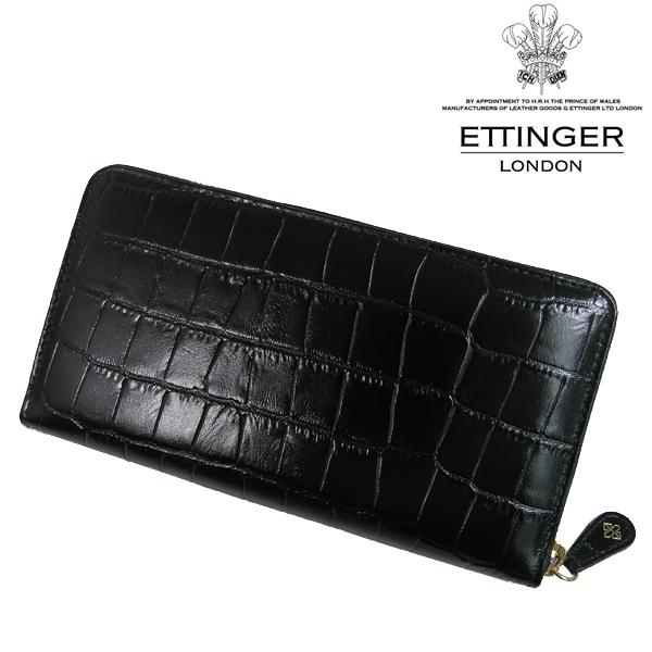 送料無料 エッティンガー/ETTINGER ラウンドファスナー長財布 メンズ CC2051EJ-EBONY