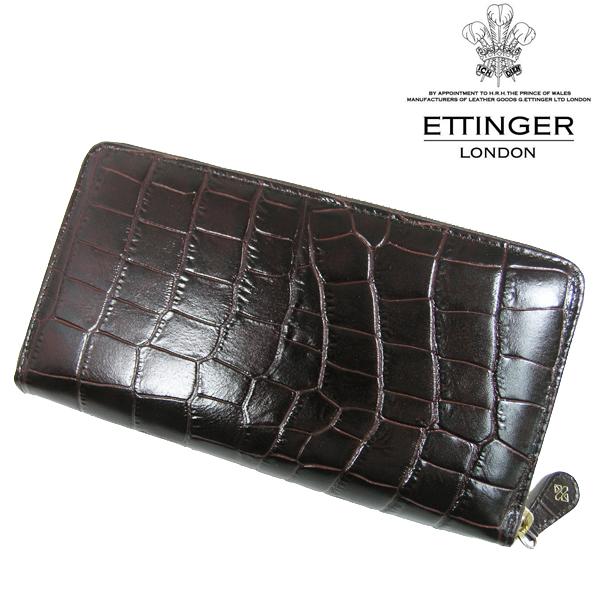 送料無料 エッティンガー/ETTINGER ラウンドファスナー長財布 メンズ CC2051EJ-MAHOGANY