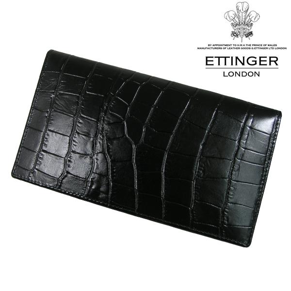 送料無料 エッティンガー/ETTINGER 長財布 メンズ CC806AJ-EBONY