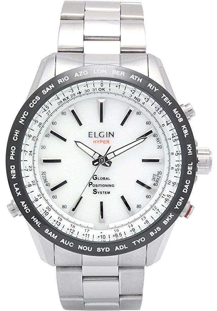 送料無料 エルジン ELGIN GPS衛星電波時計 メンズ GPS2000S-W