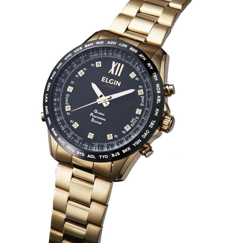 送料無料 エルジン ELGIN 腕時計 メンズ GPS2002GB-11D GPS衛星電波時計 クォーツ