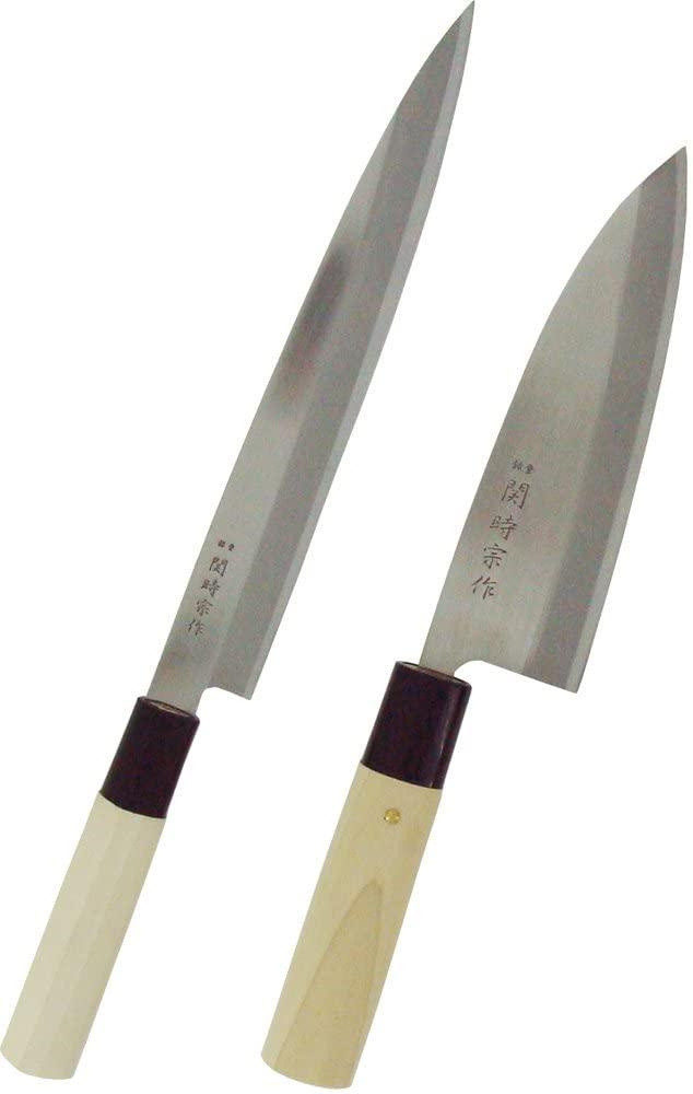 スミカマ SUMIKAMA 海外並行輸入正規品 和包丁 在庫処分 関時宗作 2点セット 刺身包丁 300ST 出刃包丁