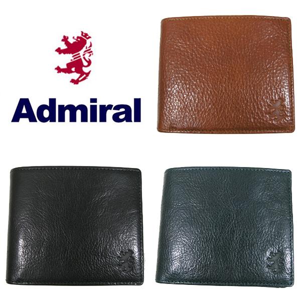送料無料 Admiral/アドミラル 二つ折財布 87010 オイルレザー 小銭入れ
