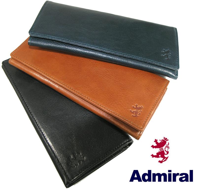 送料無料 Admiral/アドミラル 長財布 87011 オイルレザー