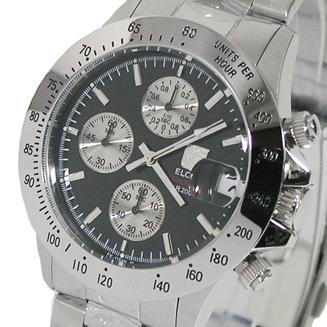 エルジン ELGIN 直営ストア 新品未使用正規品 クロノグラフ 20気圧防水 FK1184S-B メンズ腕時計