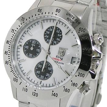 エルジン ELGIN クロノグラフ メンズ腕時計 アウトレット 20気圧防水 FK1184S-W 今だけスーパーセール限定