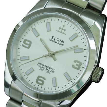 エルジン ELGIN 10気圧防水 メンズ腕時計 ※アウトレット品 FK1421S-S 新生活 10年電池搭載