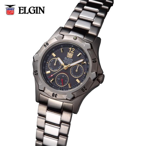送料無料 ELGIN エルジン チタンソーラーマルチ FK1424TI-B