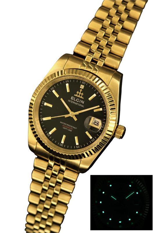 送料無料 エルジン/ELGIN 自動巻き 腕時計 ゴールドIPメッキ FK1428G-B