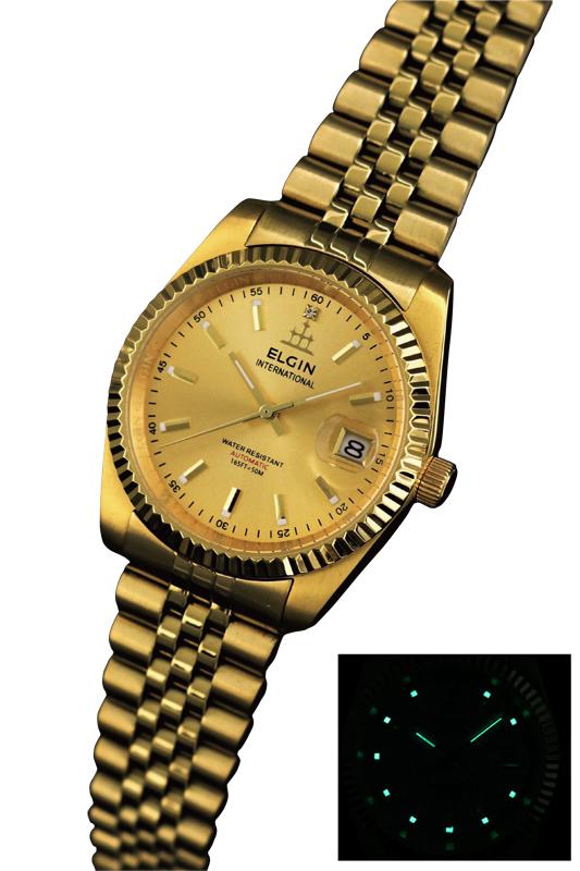 送料無料 エルジン/ELGIN 自動巻き 腕時計 ゴールドIPメッキ FK1428G-G