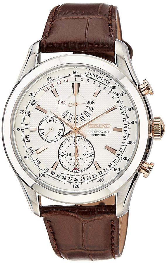 送料無料 セイコー SEIKO クオーツ メンズ クロノグラフ パーペチュアル 腕時計 SPC129P1