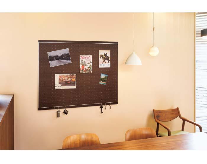 【フック付マグネットボード】120X90cm(壁掛け壁に付けられる家具マグネットボード