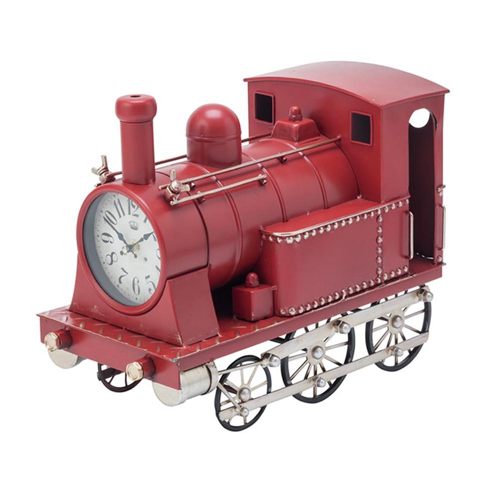 【送料無料】【取り寄せ】 イシグロ 機関車クロック レッド・31254【代引き不可】