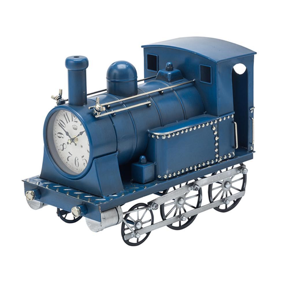 【送料無料】【取り寄せ】 イシグロ 機関車クロック ブルー・31255【代引き不可】