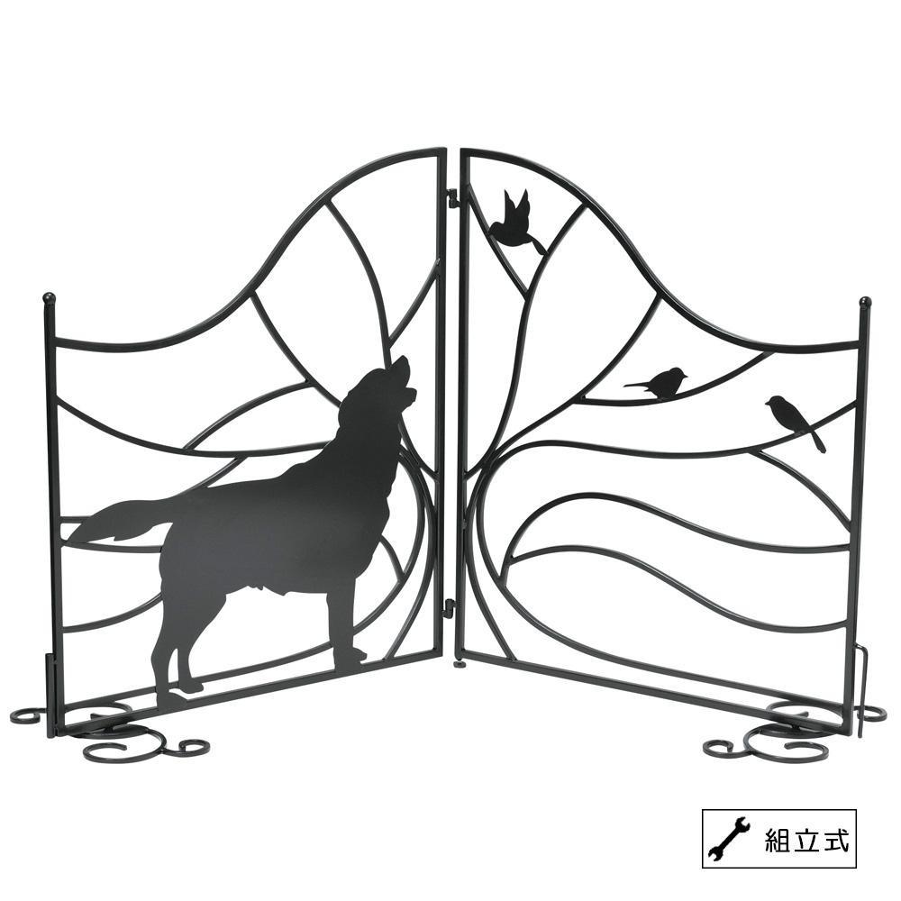 送料別 【取り寄せ】 セトクラフト シルエットゲート(Tree&Dog) SI-1957-1300【代引き不可】