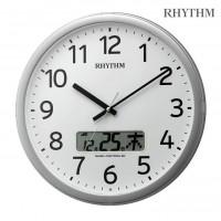 送料別 【取り寄せ】 リズム時計 プログラムカレンダー 01SR 4FNA01SR19 19シルバーメタリック色(白)【代引き不可】