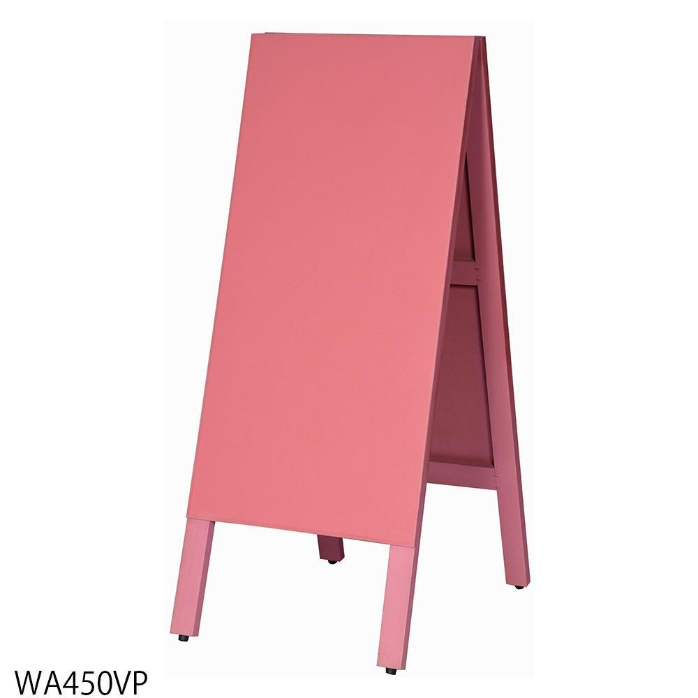 送料別 【代引き・同梱不可】【取り寄せ】 馬印 多目的A型案内板 ピンクのこくばん WA450VP
