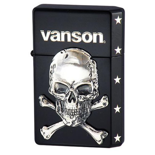 【取り寄せ・同梱注文不可】 オイルライター vanson×GEAR TOP V-GT-04 クロスボーンスカル ブラック【thxgd_18】【お歳暮】【クリスマス】