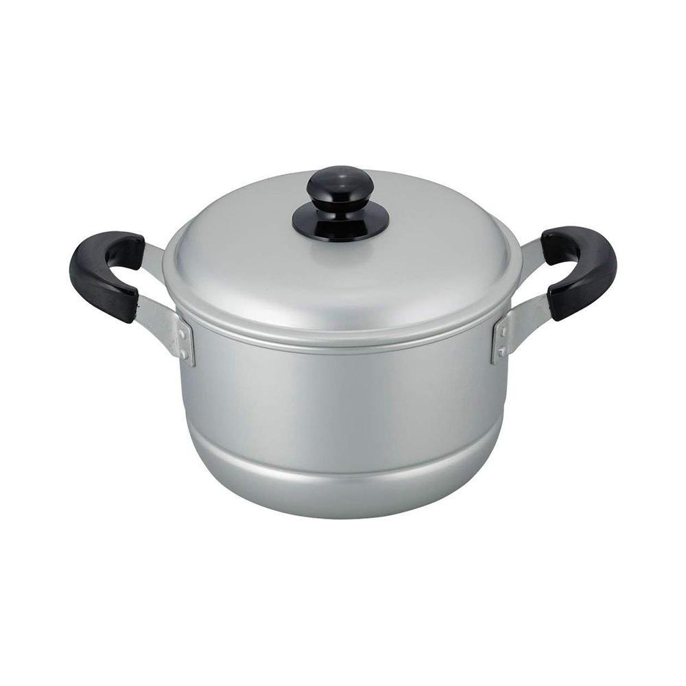 送料別  舞楽 アルマイト加工両手兼用鍋20cm MR-7588
