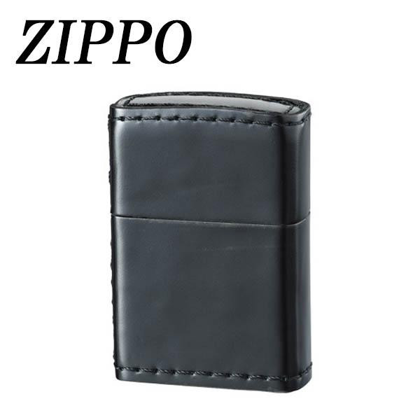 送料別 【取り寄せ】 ZIPPO 革巻 コードバン ブラック【代引き不可】