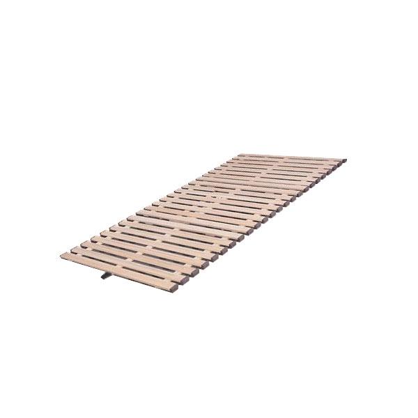 【送料無料】【取り寄せ】 立ち上げ簡単! 軽量桐すのこベッド 3つ折れ式 セミシングル KKT-80【代引き不可】