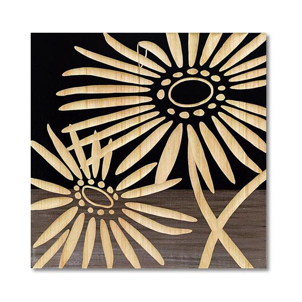 【送料無料】【取り寄せ】 ユーパワー Wood Sculpture Art ウッド スカルプチャー アート ネーチャー ガーベラ2 (BK+NP) SA-15068【代引き不可】