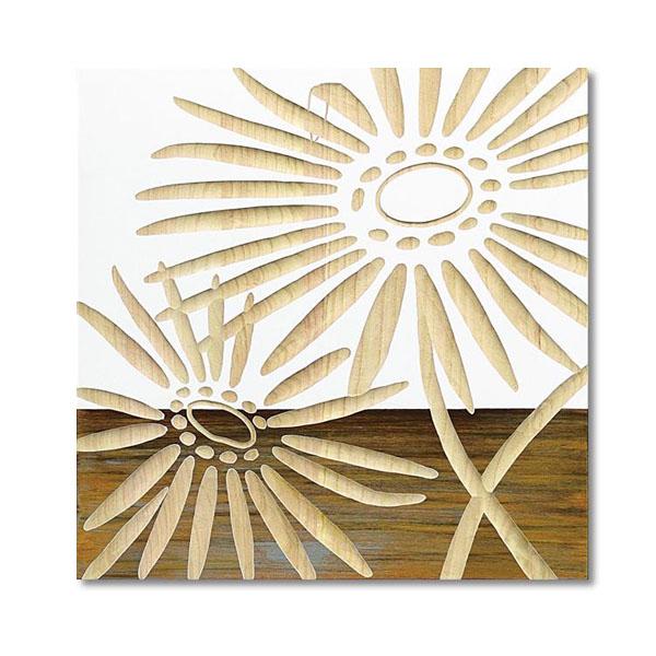 【送料無料】【取り寄せ】 ユーパワー Wood Sculpture Art ウッド スカルプチャー アート ネーチャー ガーベラ2 (WH+NP) SA-15067【代引き不可】