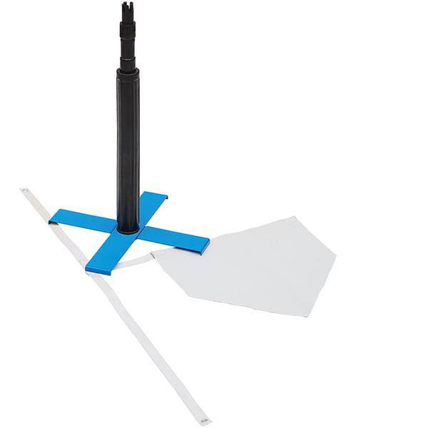 送料別 【取り寄せ】 X型ティースタンド&バッターゲージ(ベース付)セット BX86-87【代引き不可】