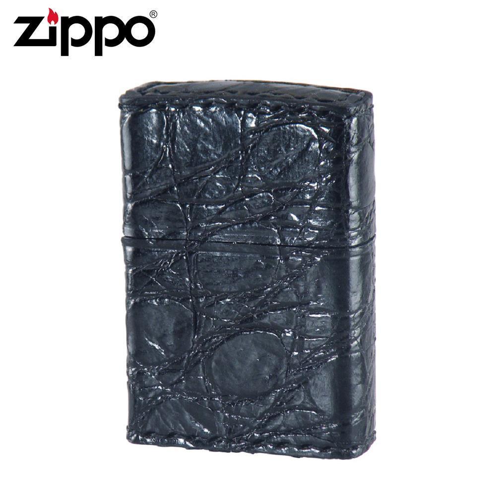 【取り寄せ】 ZIPPO(ジッポー) オイルライター 2Z-CROCOBK クロコ革巻き ブラック【代引き不可】