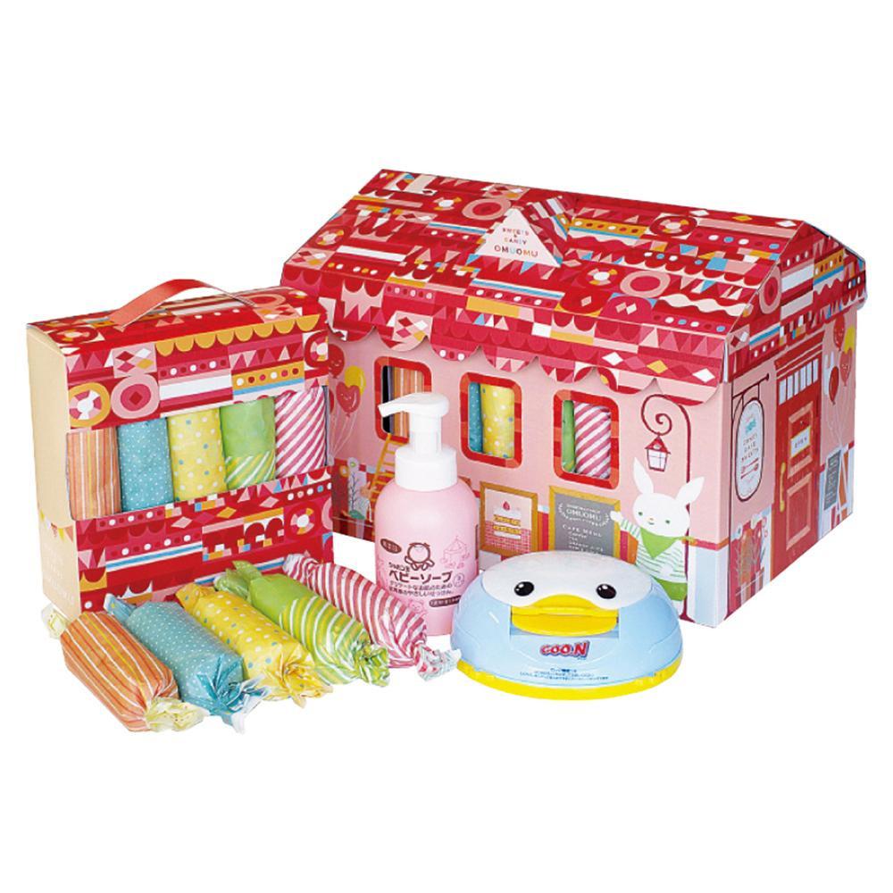 【取り寄せ・同梱注文不可】 おむたん王国 おむつBOX Sサイズ 女の子 1059-034【thxgd_18】【お歳暮】【クリスマス】
