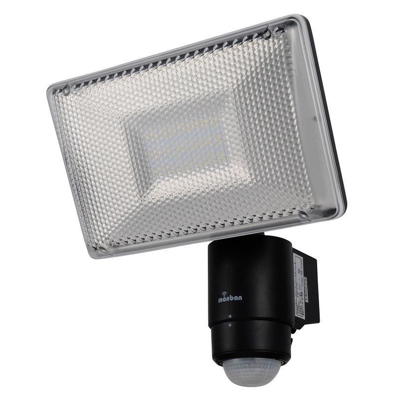 【取り寄せ・同梱注文不可】 OHM monban LED 家庭用100V電源 センサーライト 黒 LS-A1134B-K【thxgd_18】【お歳暮】【クリスマス】