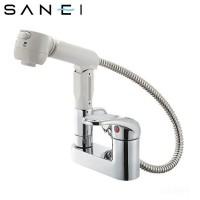 【送料無料】【取り寄せ】 三栄水栓 SANEI シングルスプレー混合栓(洗髪用) K37100V-13【代引き不可】